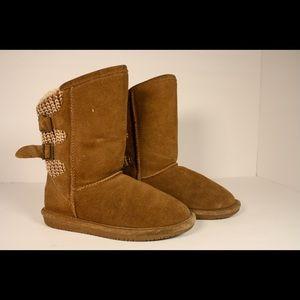 Bearpaw Women's Boshie Wide Boot Hickory II Suede